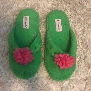 American Girl Lea Clark rainforest slippers